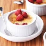Crème brûlée met frambozen